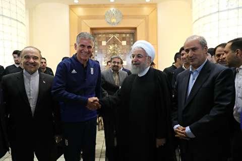 شماره ۱۲ تیم ملی فوتبال برای روحانی