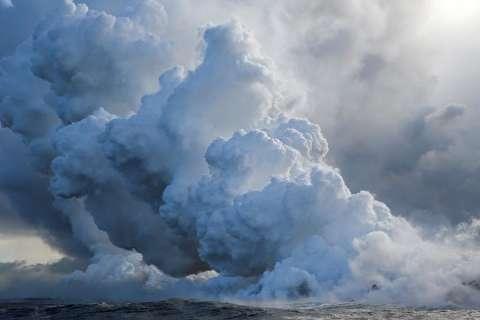آتشفشان هاوایی در دریا آرام گرفت+اسلایدشو
