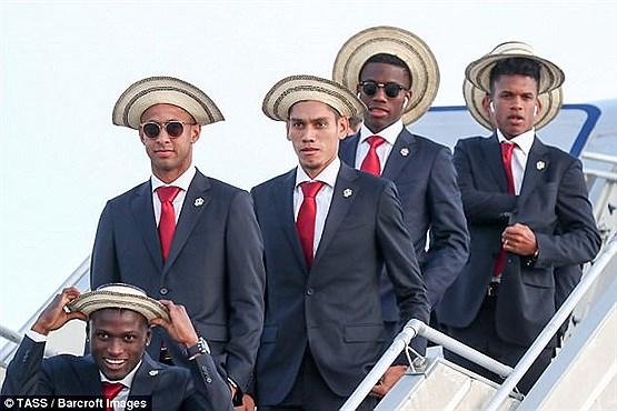 ظاهر جالب توجه بازیکنان تیم ملی فوتبال پاناما در بدو ورود به روسیه +عکس