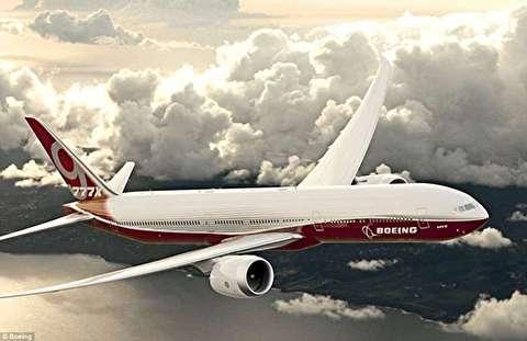 بزرگترین هواپیمای مسافربری جهان با بالهای تاشو+فیلم