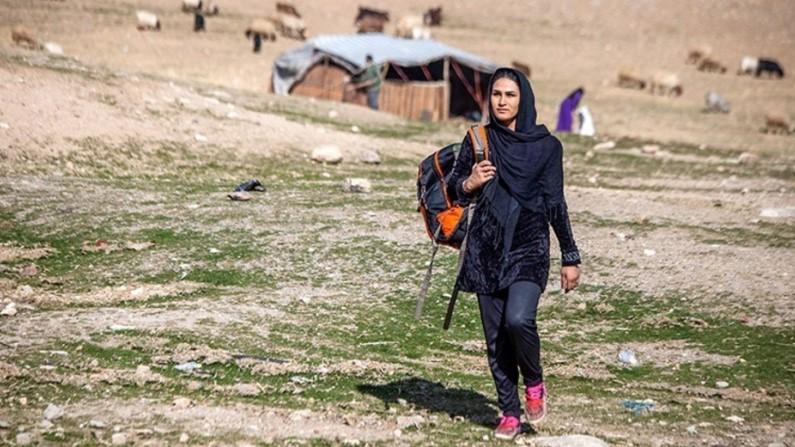 زن کرد عشایر کرمانشاهی با ۱۷ دوره قهرمانی کشوری و استانی در کیک بوکسینگ