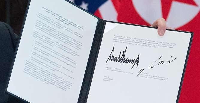 متن کامل توافقنامه دونالد ترامپ و کیم جونگ اون