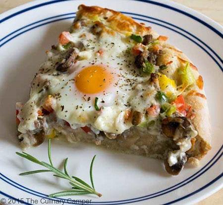 پیتزایی عجیب و به یادماندنی؛ صبحانه عالی