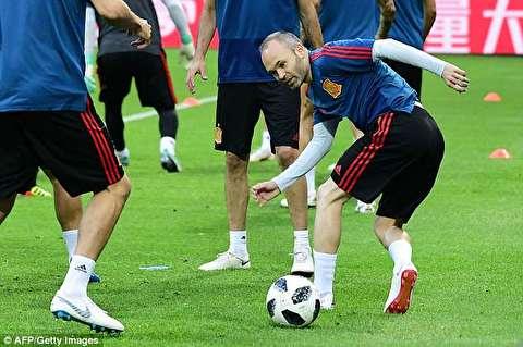 تمرین تیمهای ایران و اسپانیا قبل از فینال!