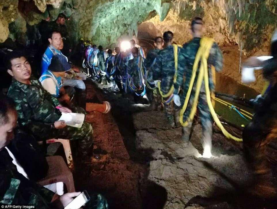 Image result for تیم تایلندی در غار گم شدند