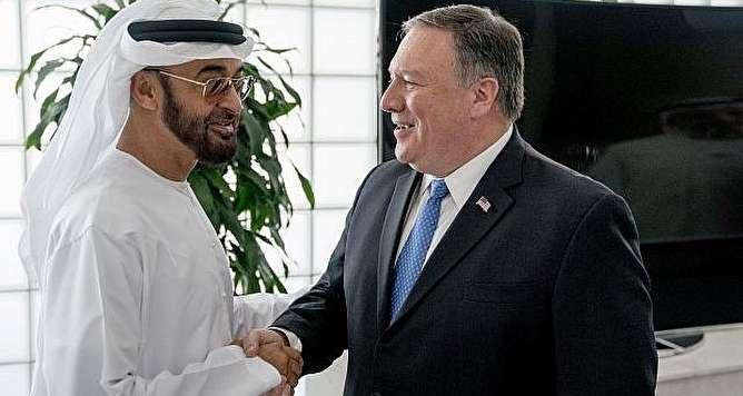 رایزنی پومپئو با ولیعهد امارات برای بستن کانالهای مالی ایران