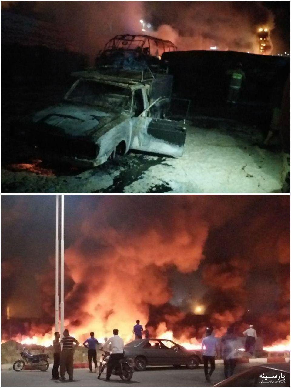در برخورد تانکر سوخت با اتوبوس در سنندج دستکم ۱۵ نفر کشته شدند +ویدیو