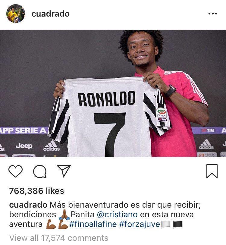 واکنش شماره هفت یوونتوس به پوشیدن پیراهنش توسط رونالدو