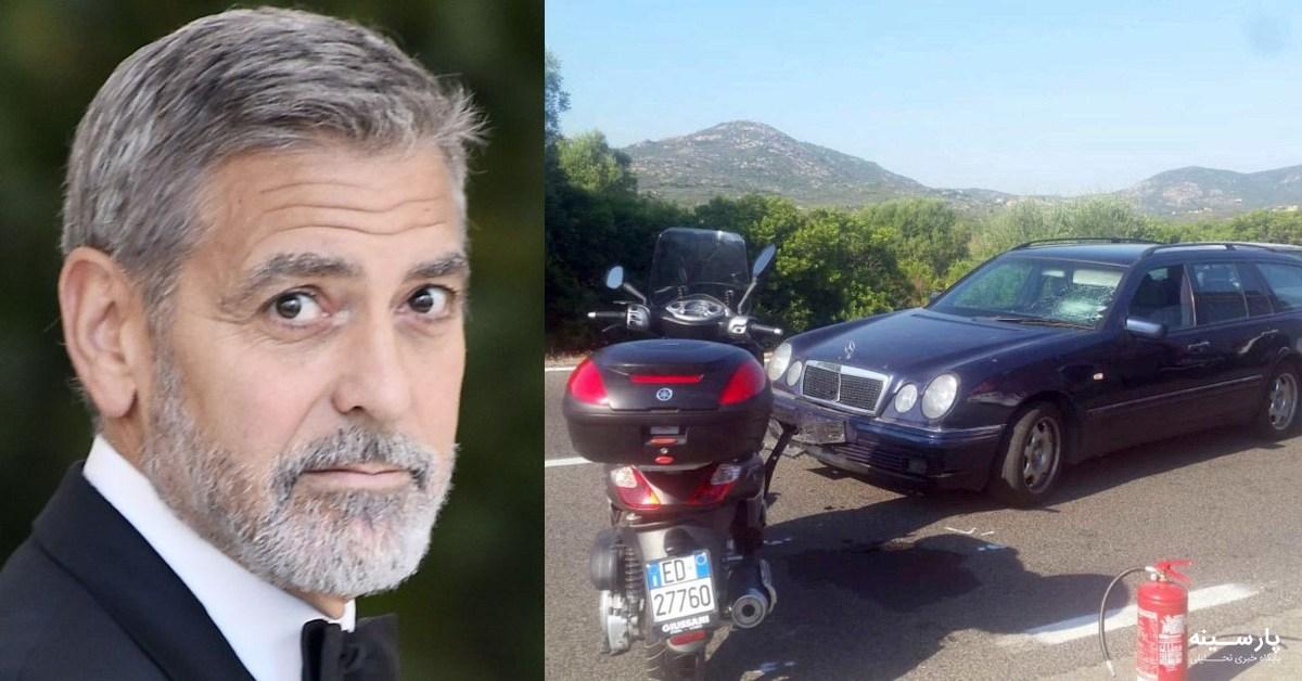 جورج کلونی بعد از تصادف در ایتالیا از بیمارستان ترخیص شد