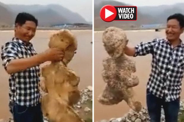 پیدا شدن موجود انسان نمای عجیب در سواحل چین! +عکس