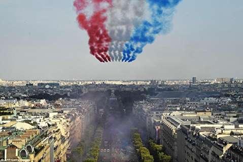 لبخند پاریس به ورود قهرمانان ملی