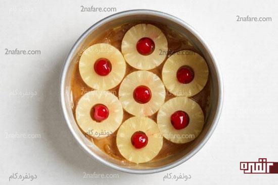 طرز تهیه کیک آناناس وارونه