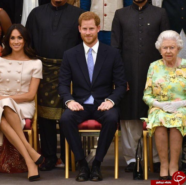 نحوه نشستن همسر شاهزاده انگلیس دردسرساز شد+عکس