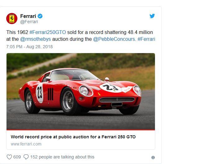 فراری ۴۸ میلیون دلاری در حراجی فروخته شد+عکس