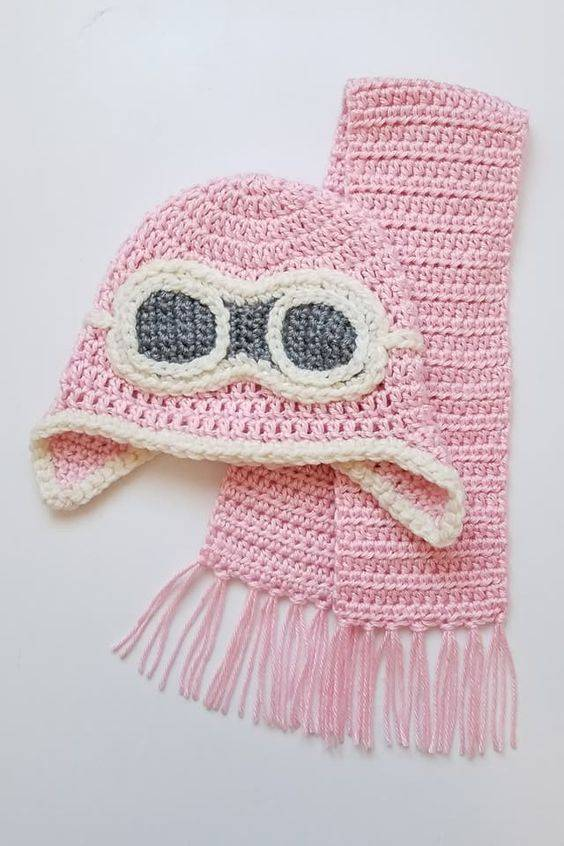 مدل شال گردن بافتنی دخترانه نوزادی