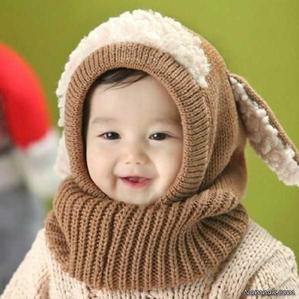 مدل کلاه و شال گردن بافتنی بچه گانه