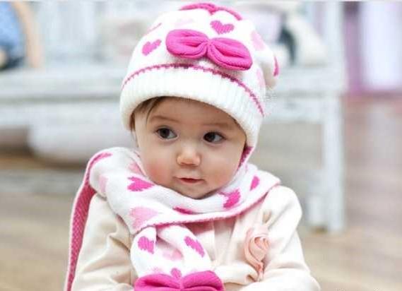 مدل شال کلاه بافتنی بچه گانه دخترانه