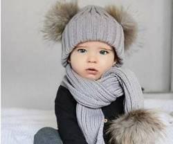 مدل کلاه و شال گردن بافتنی بچه گانه پسرانه
