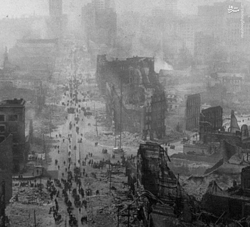 تصویری از ویرانگرترین زلزله تاریخ آمریکا