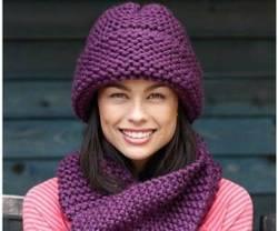 مدل جدید کلاه و شال گردن بافتنی پسرانه