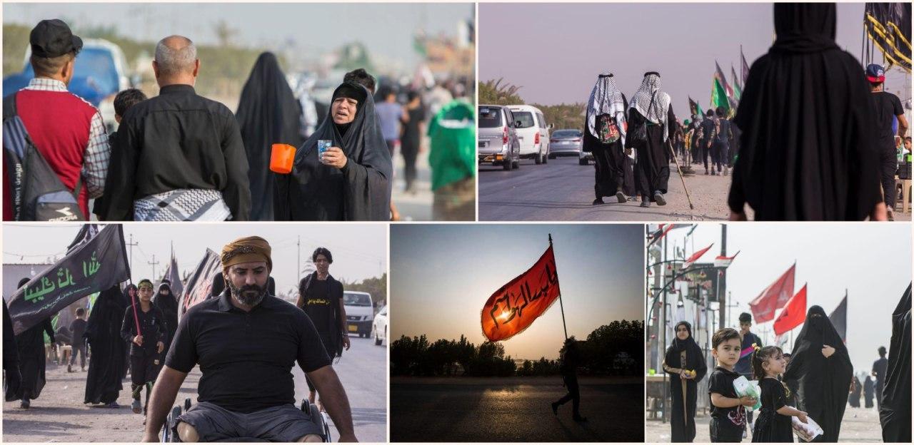 مسیر پیاده روی عاشقان امام حسین علیه السلام +عکس