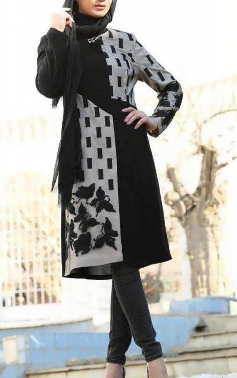 مدل مانتوی دخترانه بلند اسپرت شیک و جدید