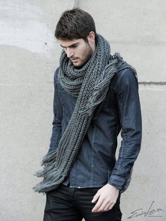 مدل شال گردن مردانه جدید بافتنی