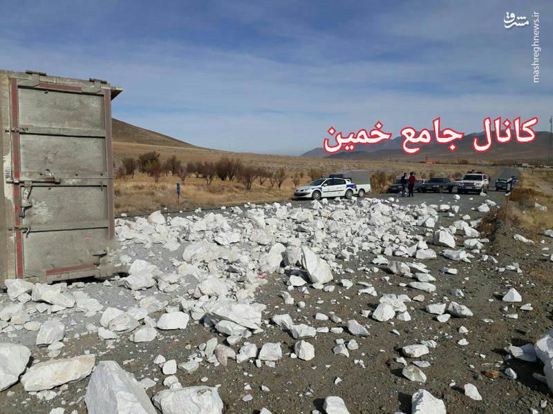 تصادف مرگبار پراید و کامیون +تصاویر