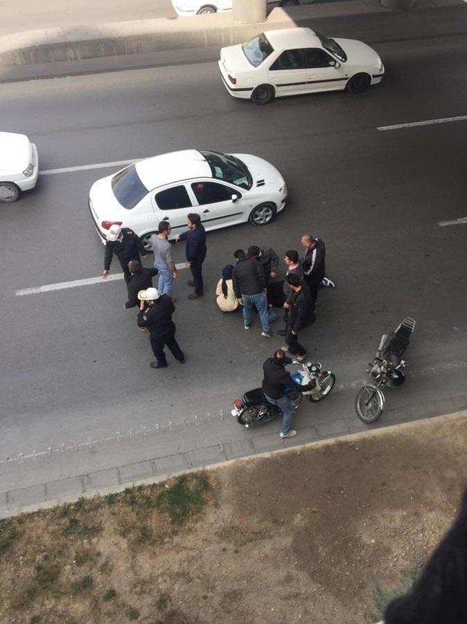 سقوط دختر جوان از بالای پل در اصفهان +عکس
