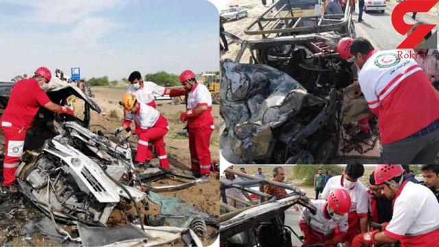 زنده زنده سوختن ۳ مسافر در ماشین  +عکس