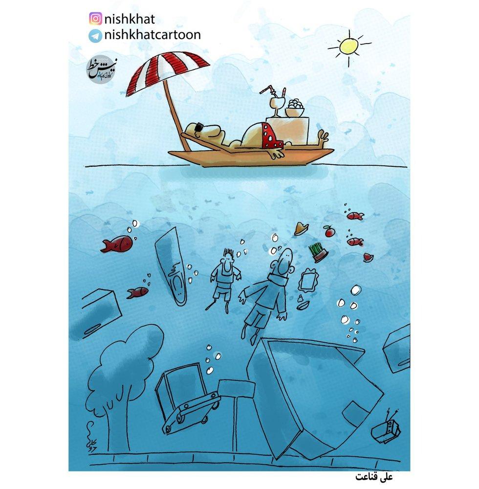مردم غرق آب، استاندار روی آب!