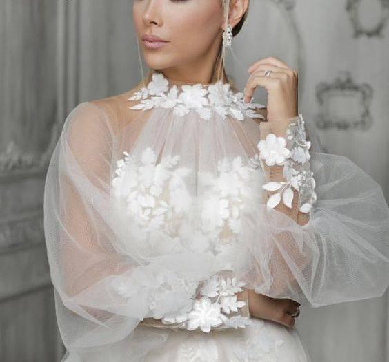 مدلهای لباس عروس آستین پفی