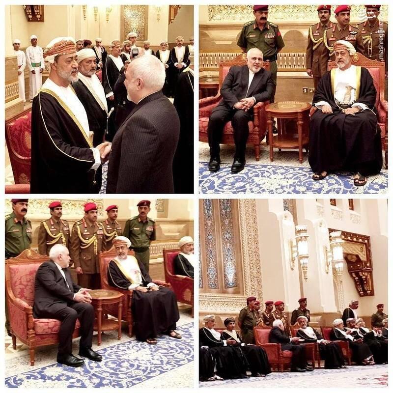 دیدار ظریف با سلطان جدید عمان +عکس