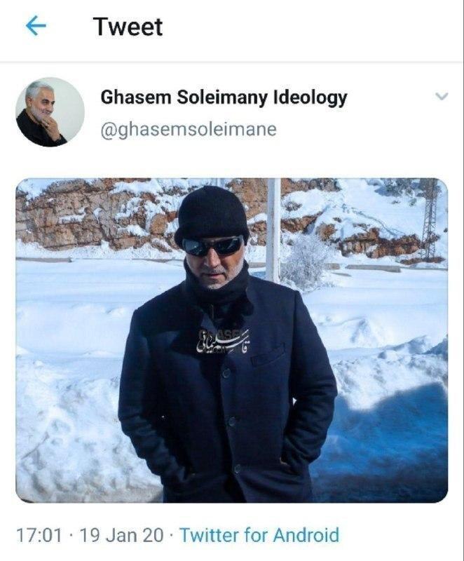 عکسی دیده نشده و متفاوت از سپهبد سلیمانی در برف