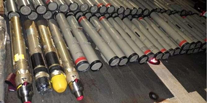 آمریکا یک شناور حامل تسلیحات ایرانی را توقیف کرد