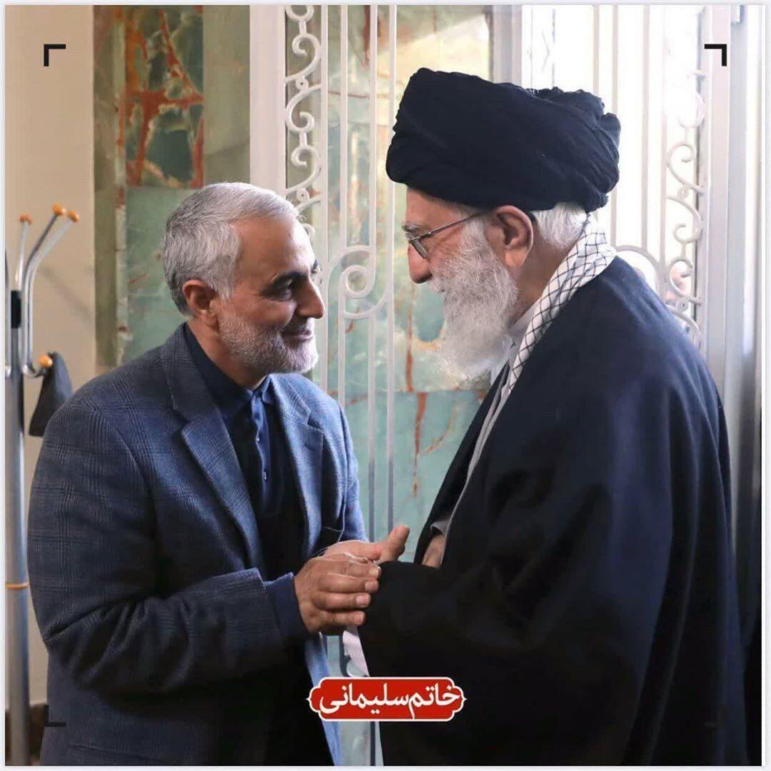 تصویر کمتر دیده شده از رهبر انقلاب و شهید سلیمانی