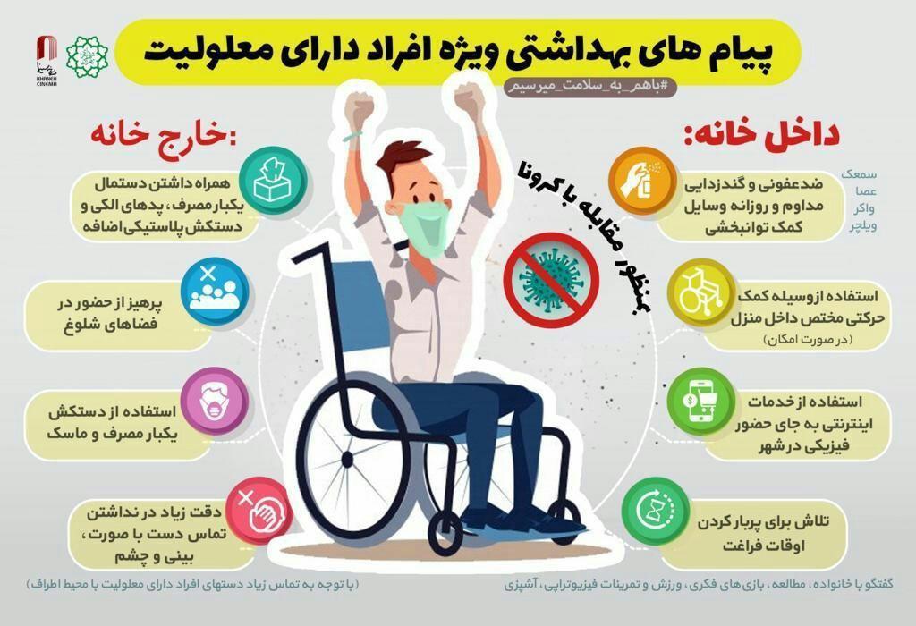 معلولان در مقابل کرونا چه کنند؟ +اینفوگرافیک
