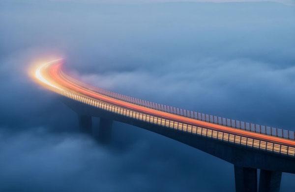 عکس نشنال جئوگرافیک؛ ترافیک در میان ابرها