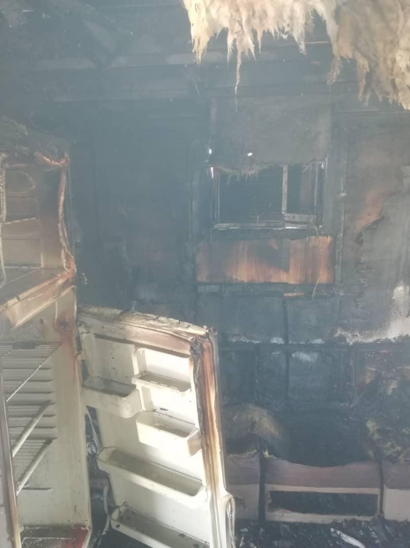 آتش سوزی در خوابگاه دخترانه اهواز +عکس