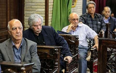۲ چهره ماندگار ایران در ۲ هنر متفاوت در مراسم مرحوم «بهرام»