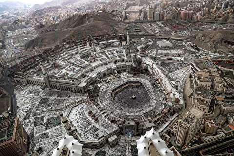 تصویر عظمت خانه خدا از بلندای آسمان