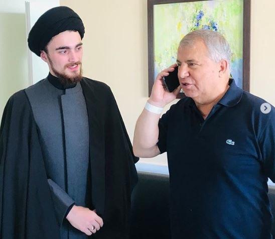 سید احمد خمینی به عیادت علی پروین رفت +عکس