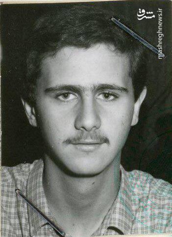بشار اسد وقتی نوجوان بود +عکس