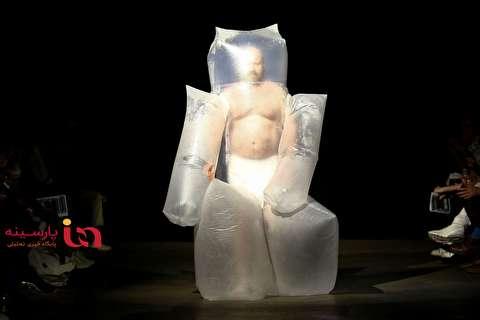 لباس عجیب یک مدل در هفته مد لندن!