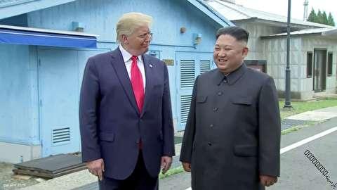 لبخندهای همیشگی ترامپ در مقابل رهبر کره شمالی! +عکس