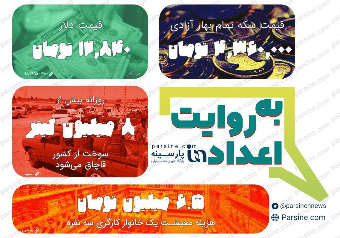 عکس: مهمترین اعدادخبری روز شنبه 15 تیر