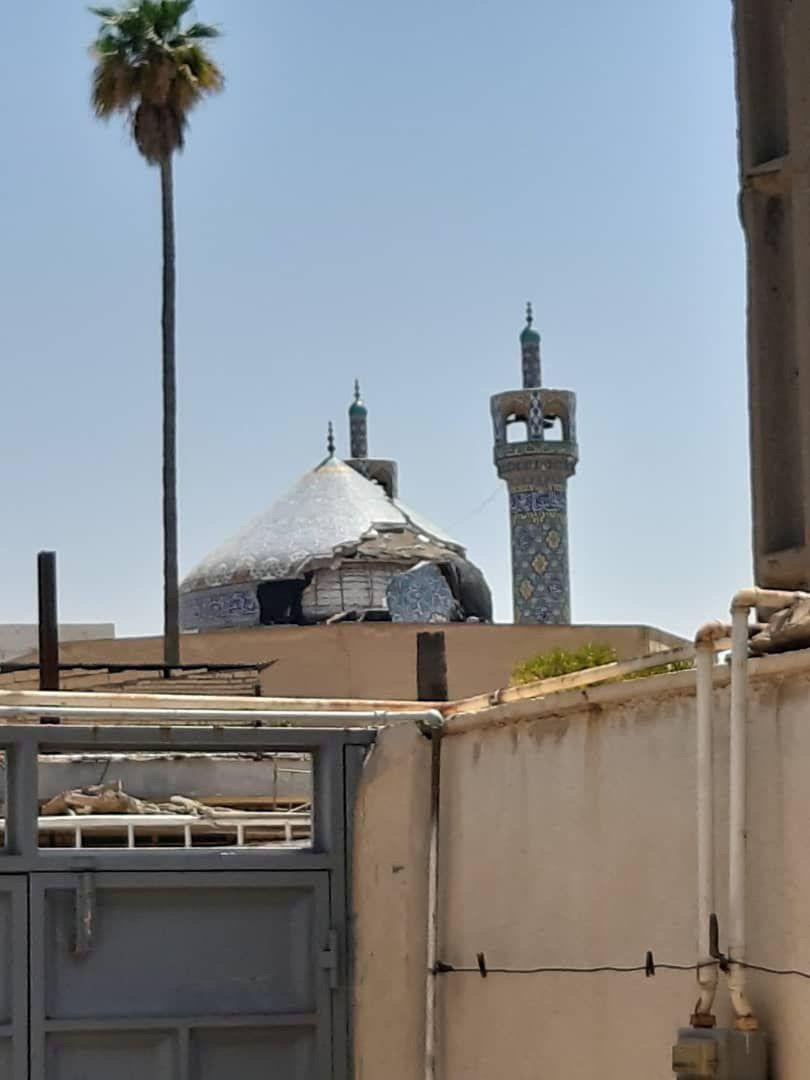 گنبد مسجد جامع مسجدسلیمان پس از زمینلرزه