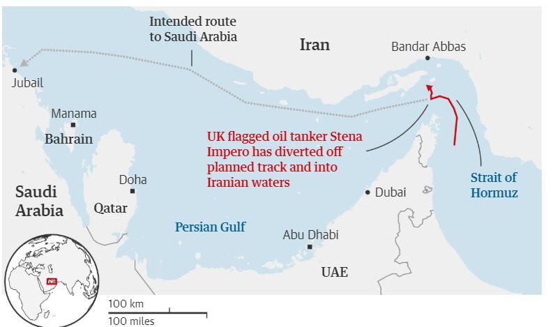 دلایل توقیف نفتکش انگلیسی در تنگه هرمز اعلام شد