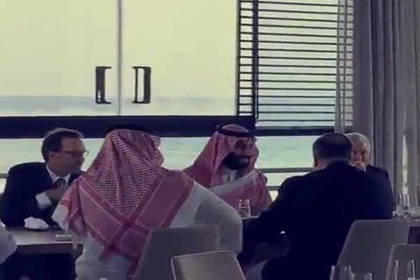 ناهار خوردن پمپئو با ولیعهد سعودی +عکس