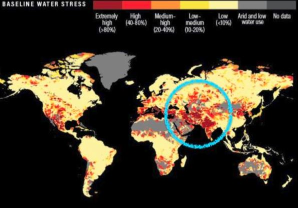 ۱۷ کشور با یک چهارم جمعیت جهان که بر لبه پرتگاه بحران آب قرار گرفته اند